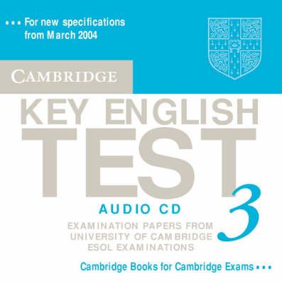 Cambridge Key English Test 3 Audio CD book
