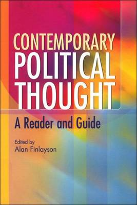 Contemporary Political Thought by Alan Finlayson
