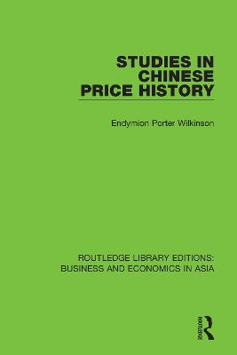 Studies in Chinese Price History book