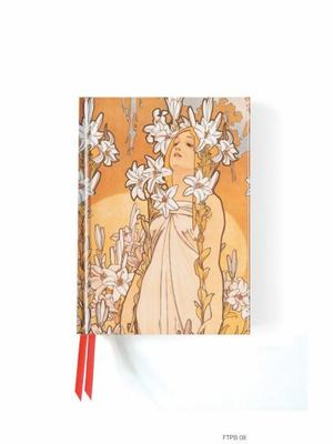 Alphonse Mucha The Flowers: Lily (Foiled Pocket Journal) by Flame Tree