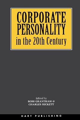Corporate Personality in the 20th Century book