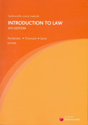 Introduction to Law by Michael Pembroke