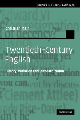 Twentieth-Century English book