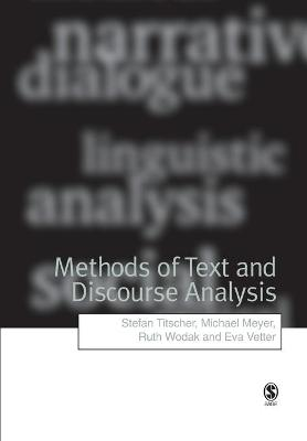 Methods of Text and Discourse Analysis by Stefan Titscher