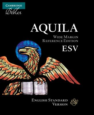 ESV Wide-Margin Reference Bible, Black Calf Split Leather, Red Letter Text, ES744:XRM by