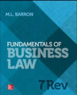 Fundamentals of Business Law by Margaret Barron
