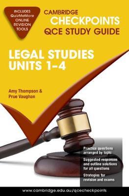 Cambridge Checkpoints QCE Legal Studies Units 1-4 book