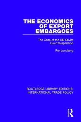 Economics of Export Embargoes book