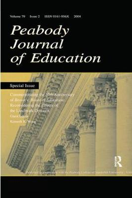 Commemorating the 50th Anniversary of brown V. Board of Education: by Kenneth K. Wong