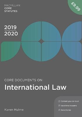 Core Documents on International Law 2019-20 book