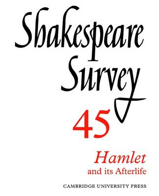 Shakespeare Survey Shakespeare Survey Characterization in Shakespeare v.34 by Stanley Wells