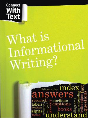 What is Informational Writing? by Charlotte Guillain