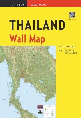 Thailand Wall Map by Periplus Editions