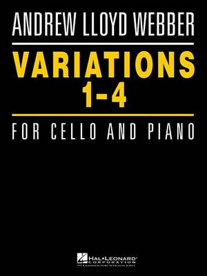 Lloyd Webber Andrew Variations 1-4 for Cello and Piano by Andrew Lloyd Webber