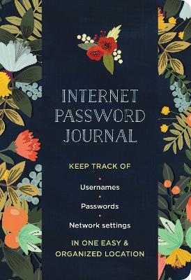 Internet Password Journal - Modern Floral by Mia Charro