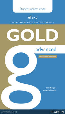 Gold Advanced eText Student Access Card by Amanda Thomas
