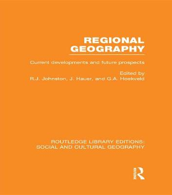 Regional Geography by Ron Johnston