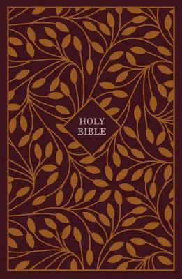 KJV, Thinline Reference Bible, Cloth over Board, Burgundy/Orange, Red Letter Edition, Comfort Print by Thomas Nelson