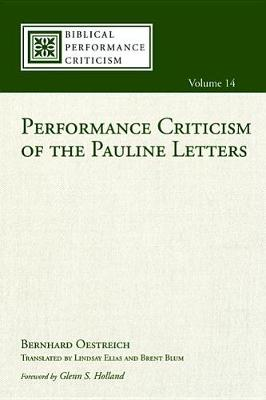 Performance Criticism of the Pauline Letters book