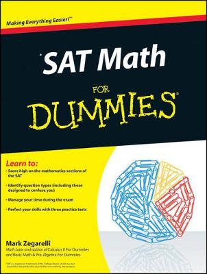 SAT Math For Dummies by Mark Zegarelli