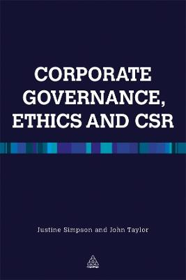 Corporate Governance Ethics and CSR by Justine Simpson
