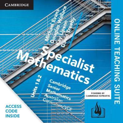CSM VCE Specialist Mathematics Units 1 and 2 Online Teaching Suite (Card) by Michael Evans