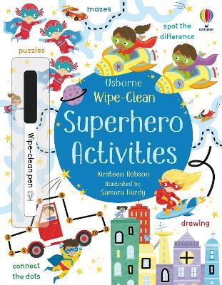 Wipe-Clean Superhero Activities book
