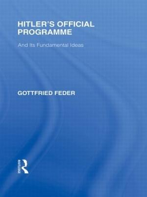 Hitler's Official Programme book