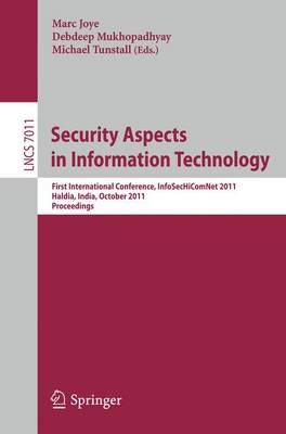 Security Aspects in Information Technology by Marc Joye