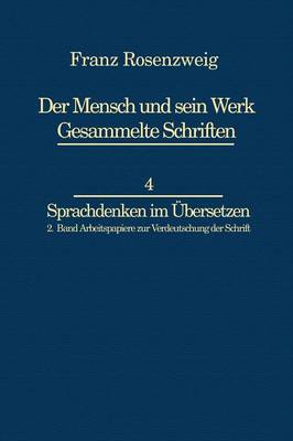 Franz Rosenzweig Sprachdenken by U. Rosenzweig