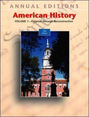 American History: Pre-colonial Through Reconstruction: v. 1 by Robert James Maddox