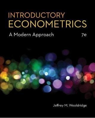 Introductory Econometrics: A Modern Approach book