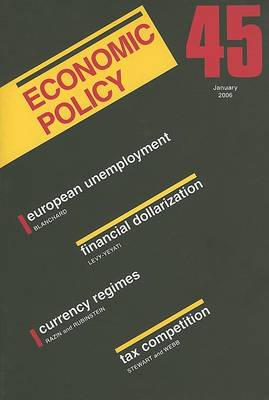 Economic Policy: 45 by Georges De Menil