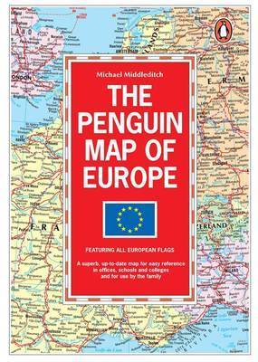 The Penguin Map of Europe by Michael Middleditch