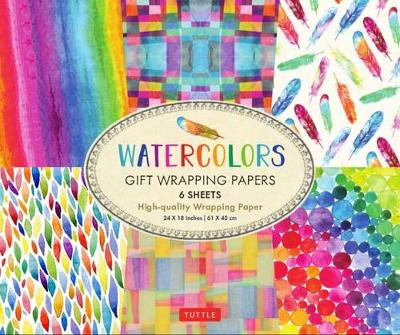 Watercolors Gift Wrapping Papers: 6 Sheets of High-Quality  24 x 18 inch Wrapping Paper by Tuttle