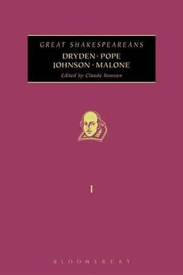 Dryden, Pope, Johnson, Malone by Claude Rawson