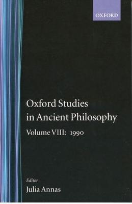 Oxford Studies in Ancient Philosophy: Volume VIII: 1990 book