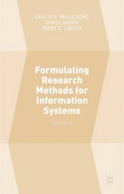 Formulating Research Methods for Information Systems by Chris Sauer