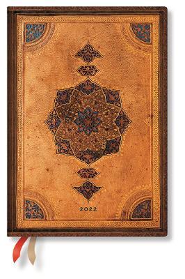 2022 Safavid, Midi, (Week at a Time) Flexi Diary: Softcover, flexi binding, Horizontal Layout, 100 gsm, no closure book
