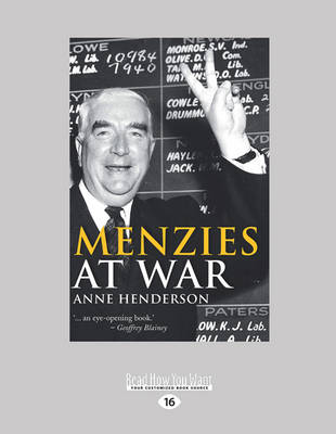 Menzies at War by Anne Henderson