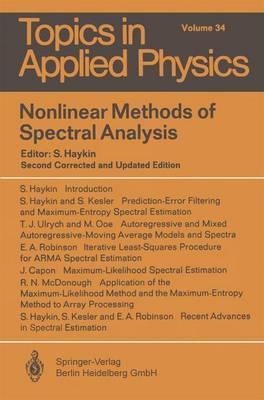 Nonlinear Methods of Spectral Analysis by Simon S. Haykin