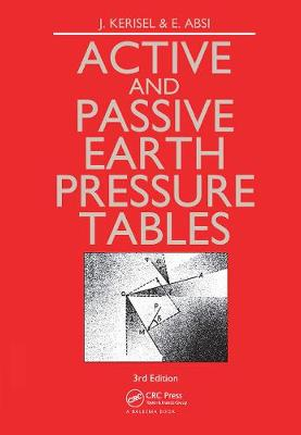 Active and Passive Earth Pressure Tables by E. Absi