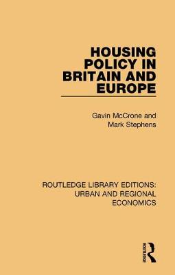 Housing Policy in Britain and Europe by Gavin McCrone