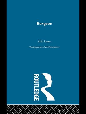 Bergson - Arg Philosophers book