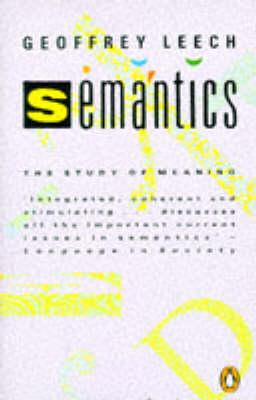 Semantics by Geoffrey N. Leech