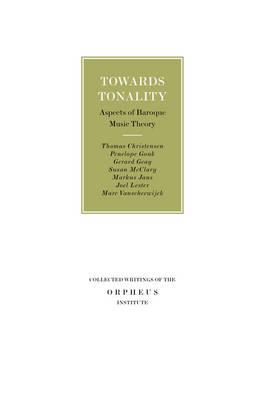 Towards Tonality by Thomas Christensen