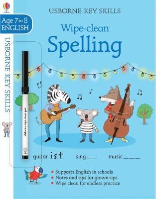 Wipe-clean Spelling 7-8 book
