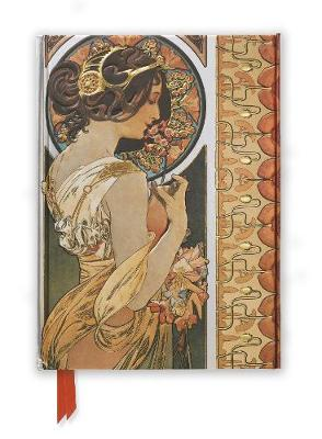 Mucha: Cowslip and Documents Decoratifs (Foiled Journal) by Flame Tree Studio
