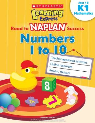 Learning Express NAPLAN: Numbers 1 to 10 K1 book