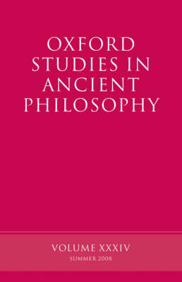 Oxford Studies in Ancient Philosophy by David Sedley